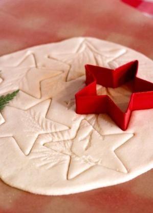 1 cup regular salt 2 cup flour 1 cup luke warm water   Salt Dough Ornaments by bettie