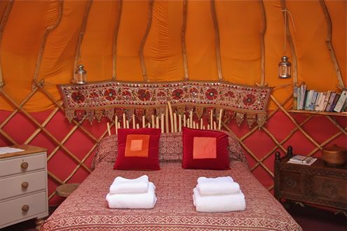 Cornish Yurt Holidays by Yurtworks - Cornwall, England UK - #glamping in custom-built #yurts with the option to take courses in basket weaving, yurt building and more!