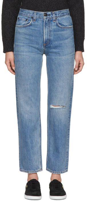 Rag & Bone Blue Straight Cut Jeans