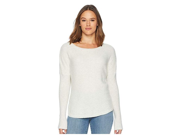 ExOfficio Pontedera Bateau Neck (Oatmeal Heather) Women's Long Sleeve Pullover. …