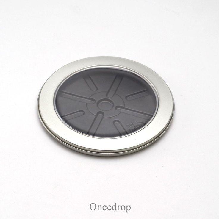 Clear Window Metal Tins Circle Bland DIY Storage Box Single CD Case - Qty 1