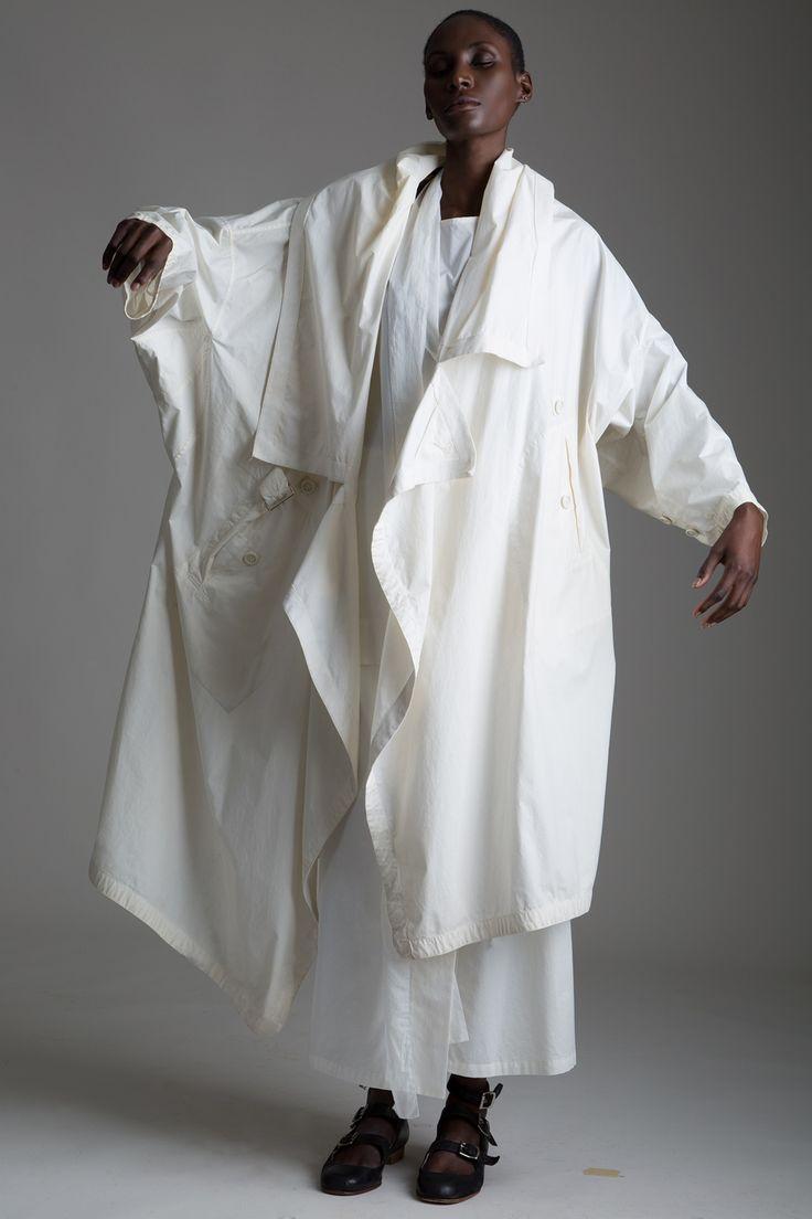 Shades of #white - #Vintage Issey Miyake Permanenete Coat