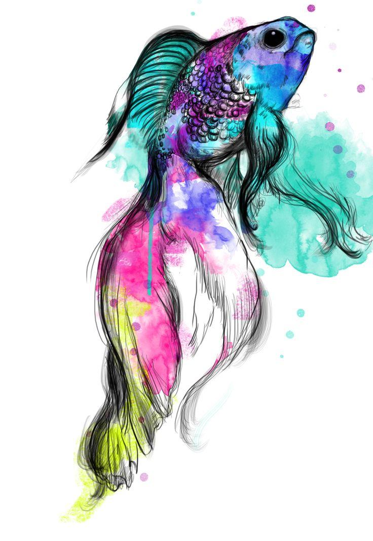 #bigfish #digital #watercolour