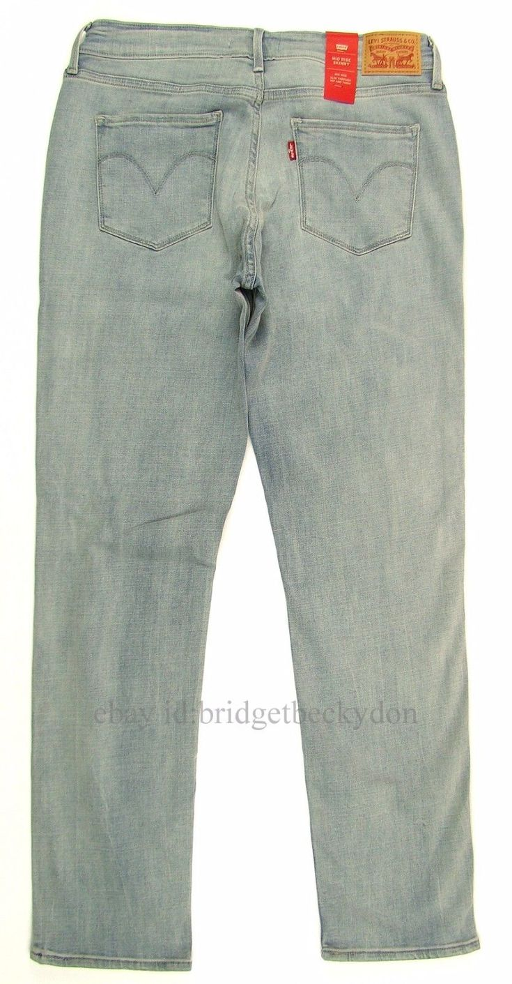 Levi's Women's Mid Rise Skinny Stretch Levis Jeans Sizes 10, 12, 14, 16