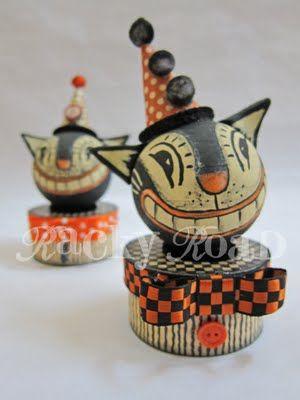 junk: Tutorial: Vintage-look Halloween Cat Trinket Box