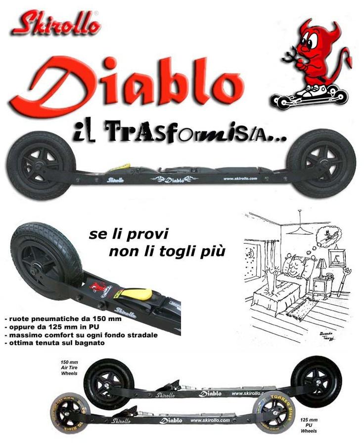 Skirollo Diablo, the transformer - The best all terrain rollerskis - www.skirollo.com