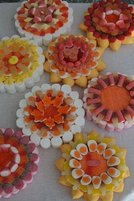 LOS DETALLES DE BEA: Las flores de la boda de Natalia... Mini tartas para sus amigas!!