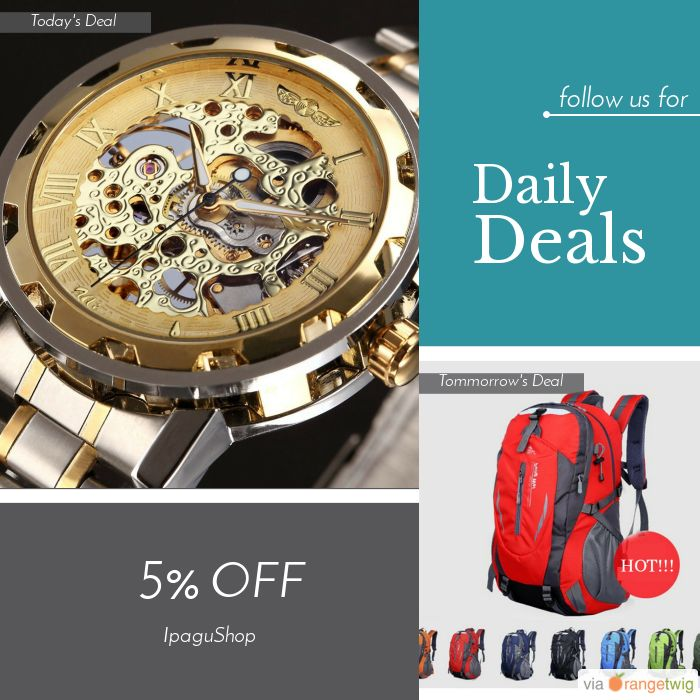 Today Only! 5% OFF this item.  Follow us on Pinterest to be the first to see our exciting Daily Deals. Today's Product: Sale -  Man Watch, Golden Skeleton Mechanical Stainless Steel Luxury Wristwatch, FREE Shipping! Buy now: https://small.bz/AAZrHP7 #musthave #loveit #instacool #shop #shopping #onlineshopping #instashop #instagood #instafollow #photooftheday #picoftheday #love #OTstores #smallbiz #sale #dailydeal #dealoftheday #todayonly #instadaily