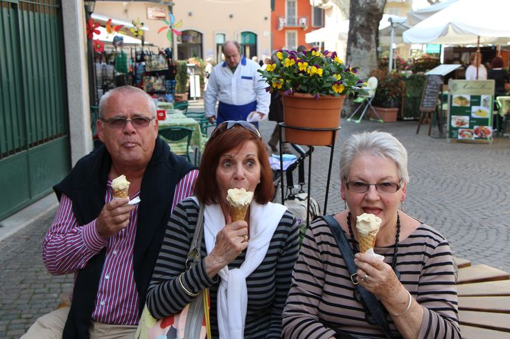 Ice cream at the market in Verbania near Pascia, Lago Maggiore, Oggebbio, Italy. Where you will be staying. Oggebbio apartment rental.