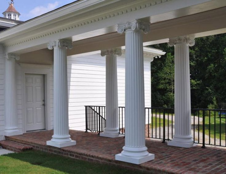 29 best know your house greek revival images on pinterest for Fiberglass architectural columns