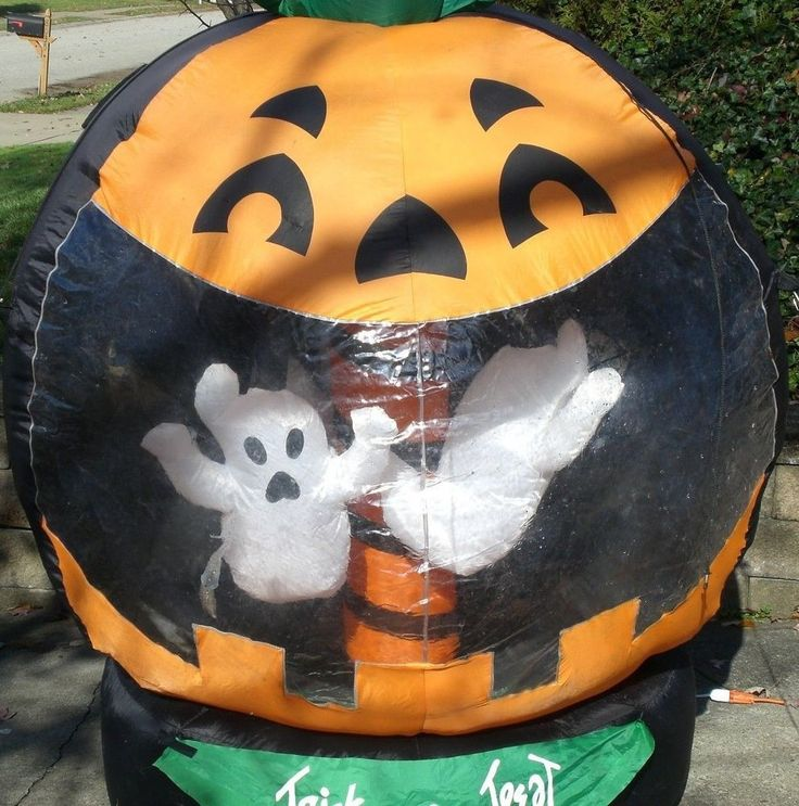 Halloween rotating ghost pumpkin inflatable blow up for Air blown decoration