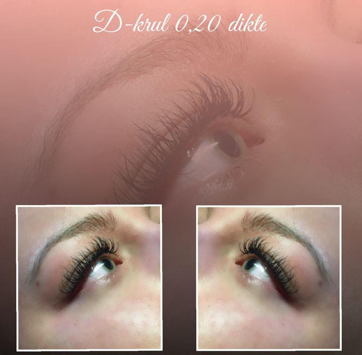Eyelashes D-curl 0,20