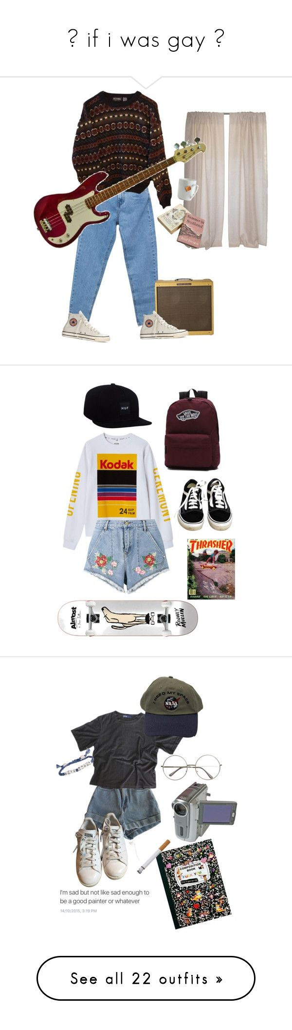 """""""♡ if i was gay ♡"""" by daytildark ❤ liked on Polyvore featuring Pull&Bear, Converse, INDIE HAIR, le mouton noir & co., Vans, House of Holland, American Apparel, adidas, Venessa Arizaga and Maison d'usQ"""