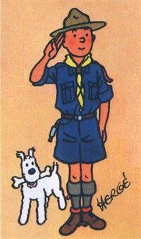 Tim und Struppi als Pfadfinder ---- *Herge* ---- Tin Tin Scout