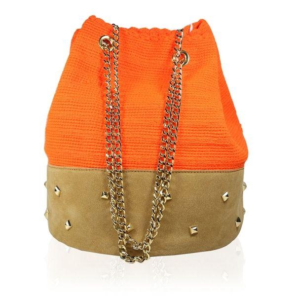 Shoulder Bag Plain Tack Orange by Stella Rittwagen. 175€. www.dwappo.com