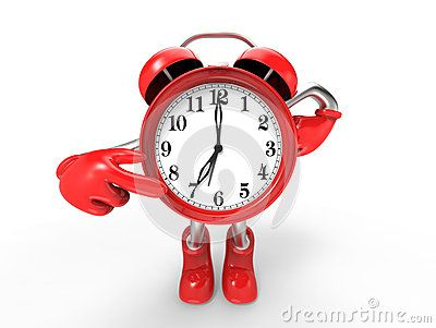 Character alarm clock,  on white background