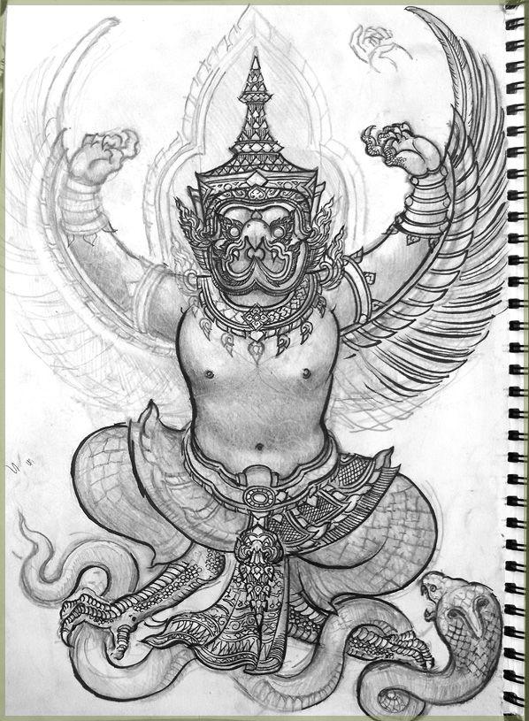 Garuda drawing