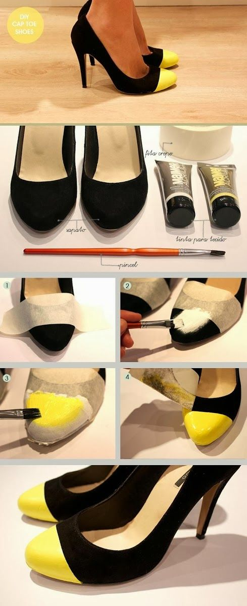 My DIY Projects: DIY Make Your Own Cap Toe!