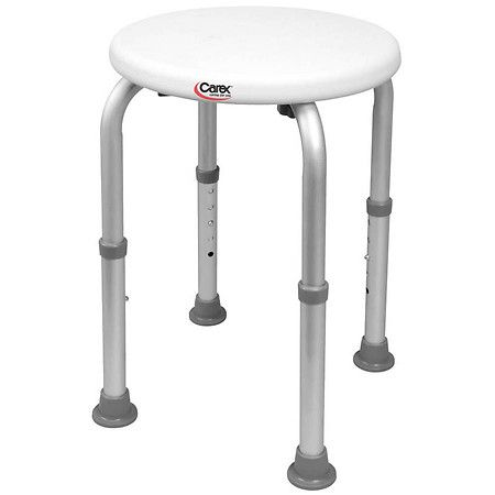 Carex Compact Shower Stool - 1 ea: The Carex Adjustable Round Shower Stool is ideal for narrow tubs and… #Pharmacy #OnlinePharmacy #Health