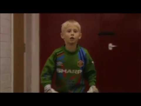 A young Kasper Schmeichel Tom Ince and Alex Bruce playing football (1994)