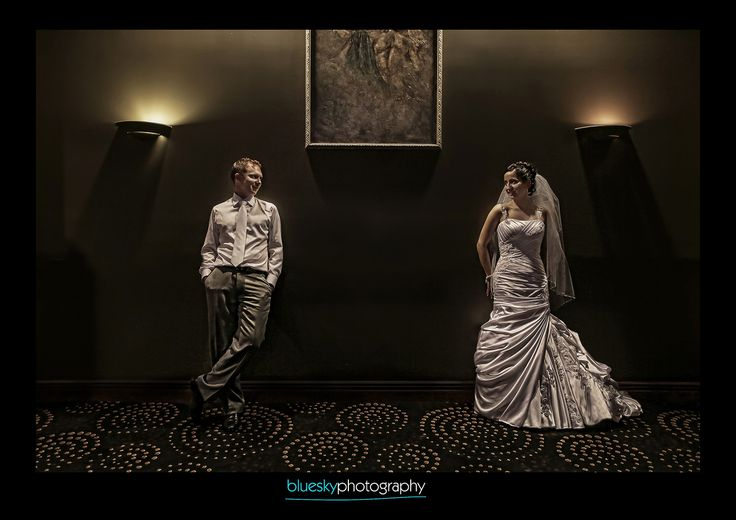 Teresa & Dan taking time out at their reception.  Dramatic, classic and oh so elegant!