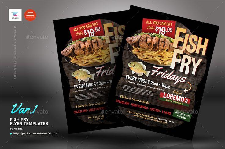 fish fry flyer templates foods. Black Bedroom Furniture Sets. Home Design Ideas