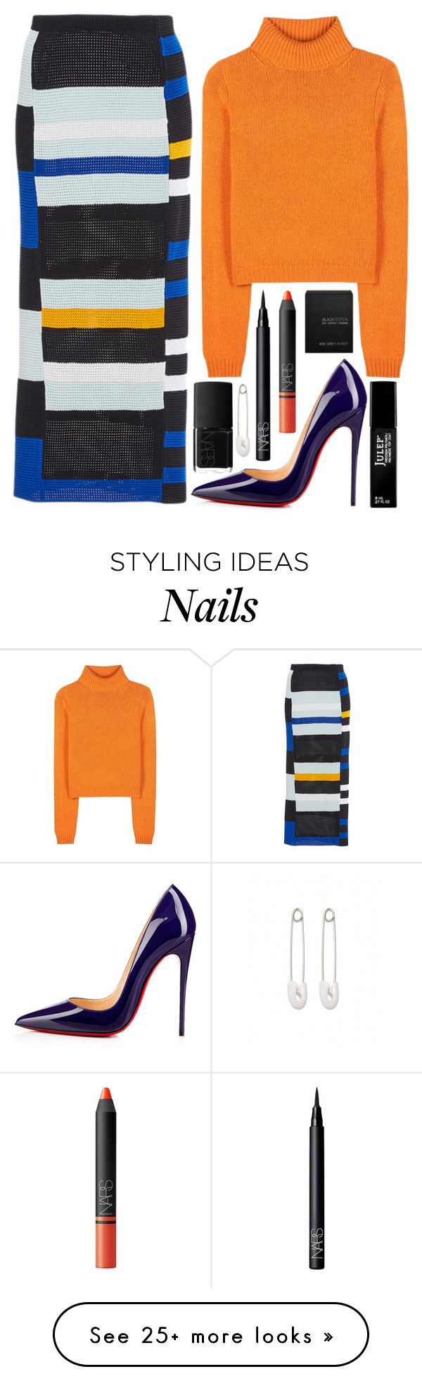 """""""pumpkin spice sweaters"""" by steenybeany on Polyvore featuring Proenza Schouler, Acne Studios, Christian Louboutin, Julep, NARS Cosmetics, Ex Voto Paris and Kristin Cavallari"""