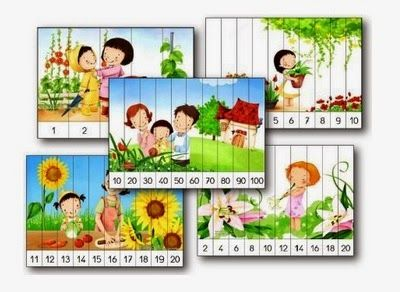 Psicopedagogia Salvador: 40 quebra-cabeças com sequências numéricas para imprimir