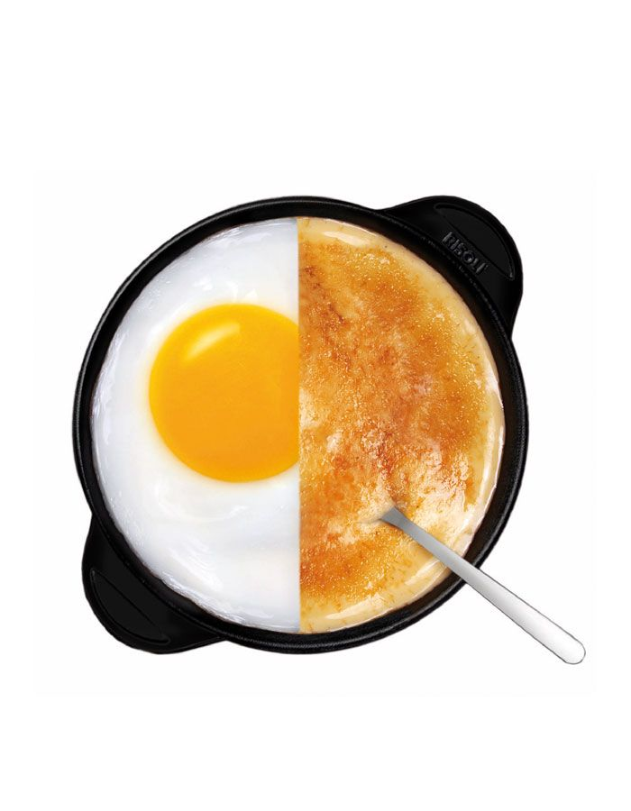 Risoli Explora Egg & Sweet Pan. Shop online, shipping worldwide.  Perfect for those little ones. Our Egg and Sweet Explora pans allow for specialised small meals.