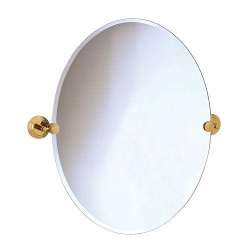 Oval Bathroom Mirrors Gatco 5219 Marina Polished Brass Tilting Mirr