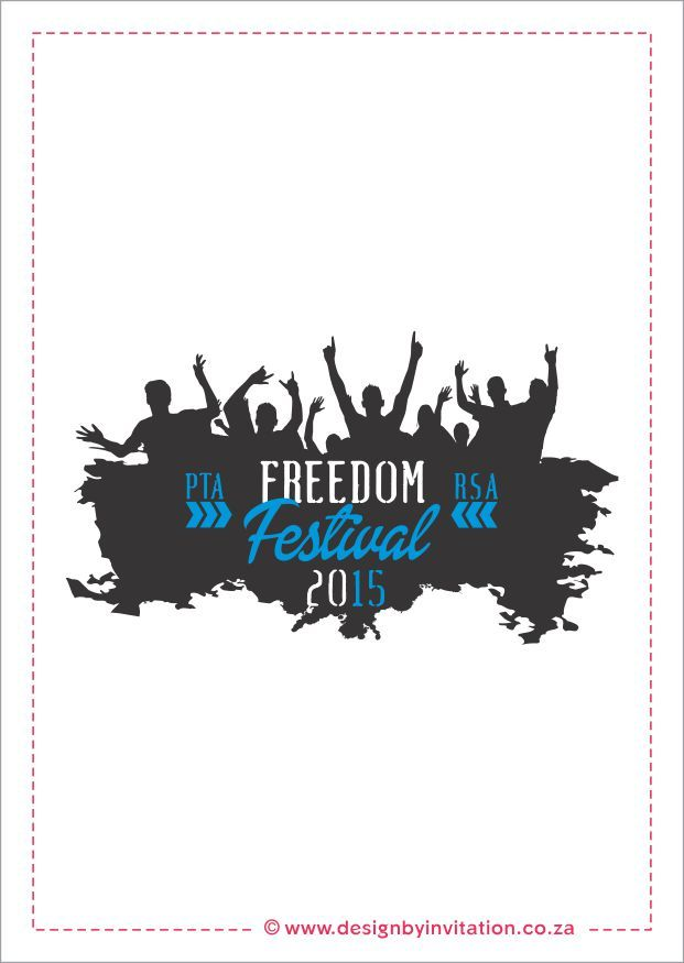 Freedom Festival Logo Design © www.designbyinvitation.co.za