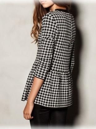 black and white swallow gird knitting dress