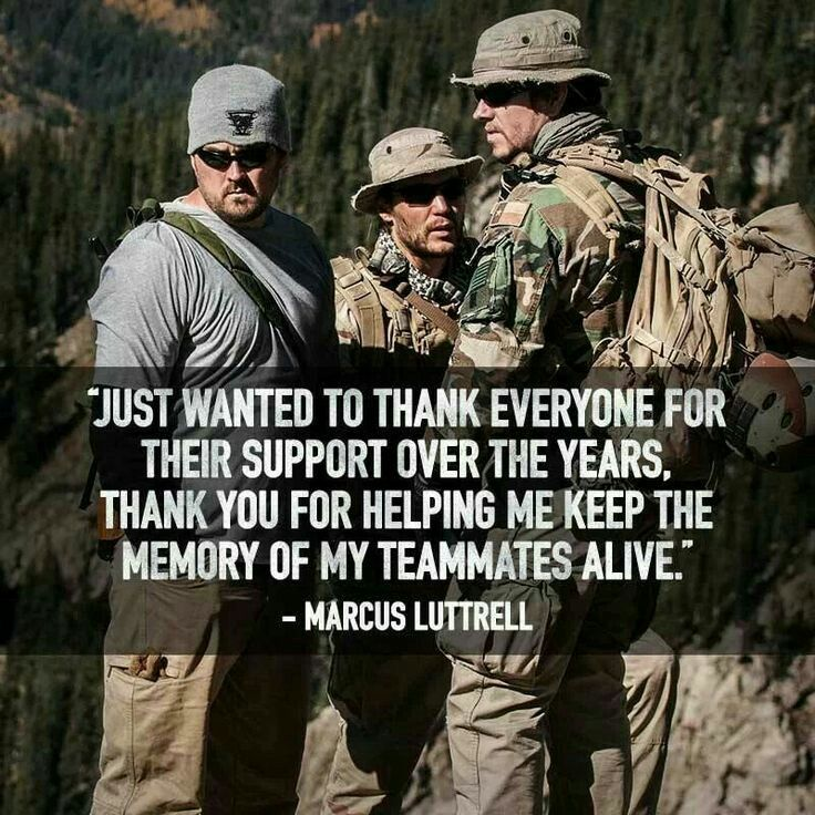 Marcus Luttrell quote | Lone Survivor | Pinterest