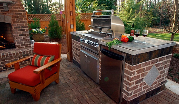 Outdoor grill area is a must!