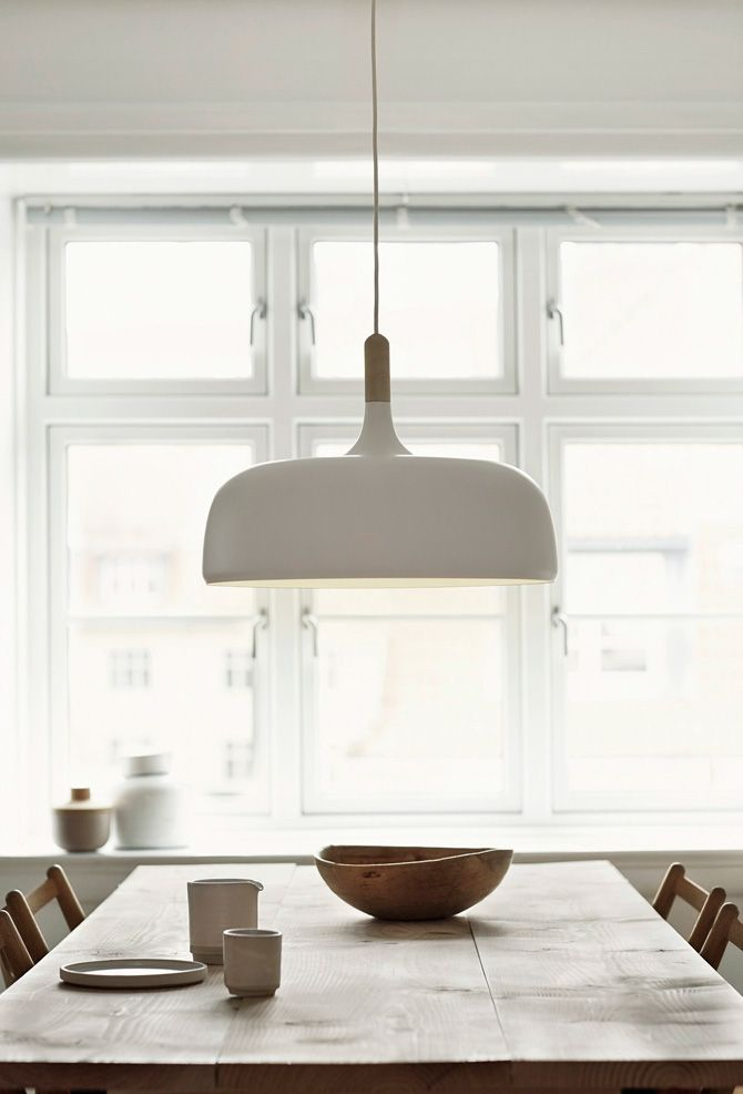 The The Acorn Pendant Lamp is a great decorative element. Its soft curvature adds softness and interest to a space.