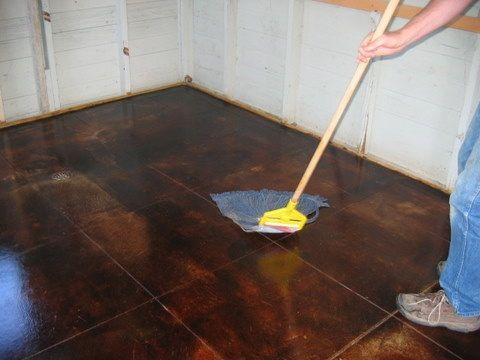 HOW TO - DIY acid stained concrete