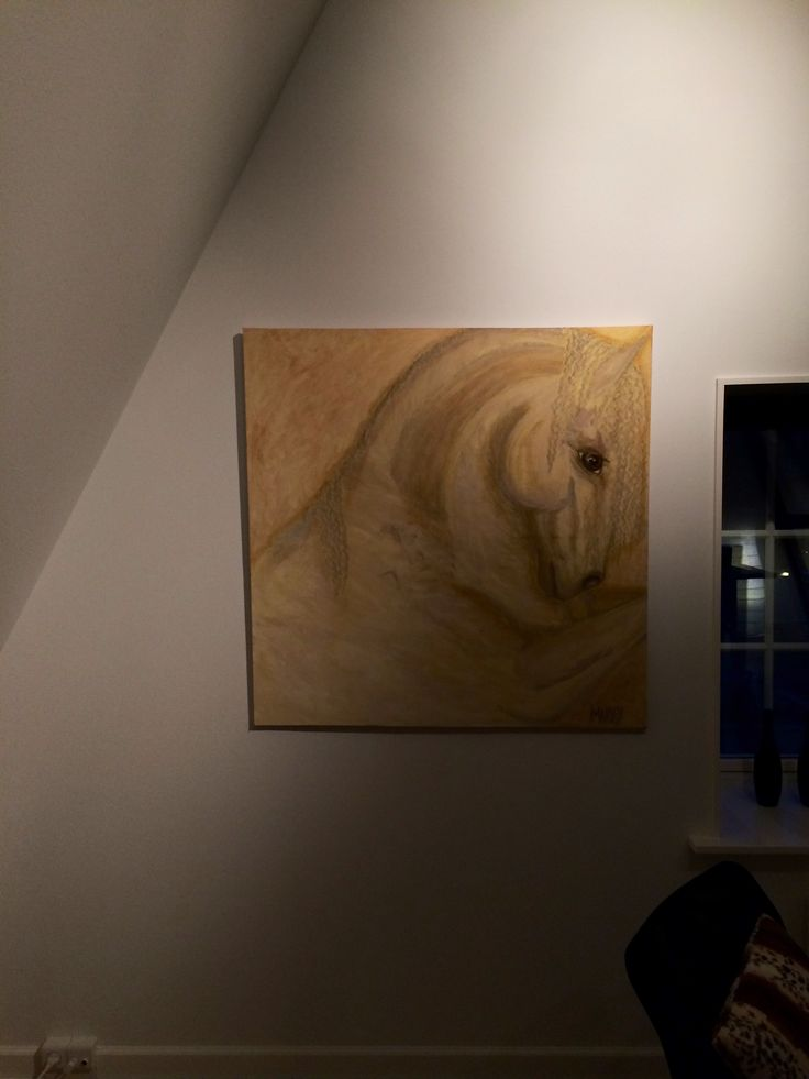 Gold horse  om canvas.