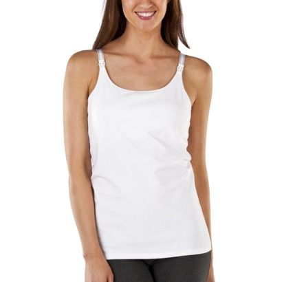 Favorite nursing tank for layering - not too tight and plenty long. // Gilligan  O'Malley® Women's Cotton Nursing Cami - Assorted Colors/Patterns