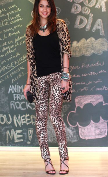 Leopard skin touch outfits
