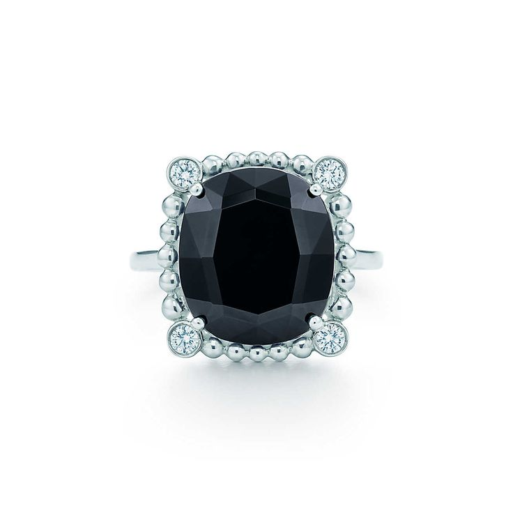 Ziegfeld Collection:Black Spinel Ring.  Tiffany & Co.
