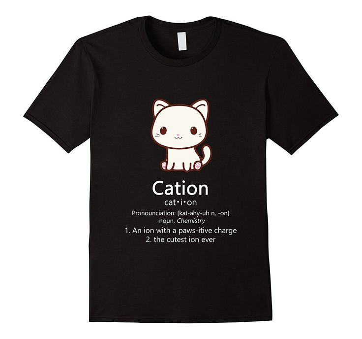 Cute Science Cat T-Shirt Kawaii Cation Chemistry Pawsitive