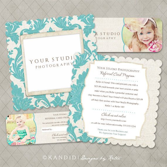 Millers Lab Luxe & Rep Card Referral Templates for photographers-  $8.00, via Etsy.