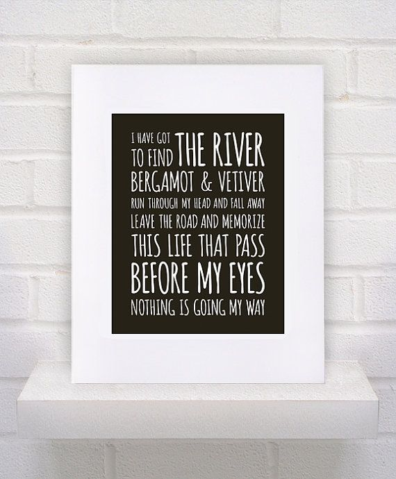 REM Lyrics  Find the River  11x14  poster print by KeepItFancy,