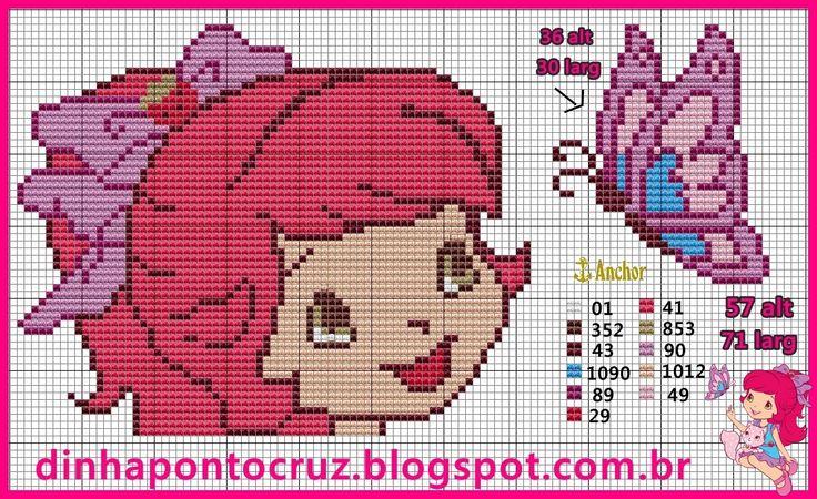 Strawberry Shortcake pattern by Dinha Ponto Cruz