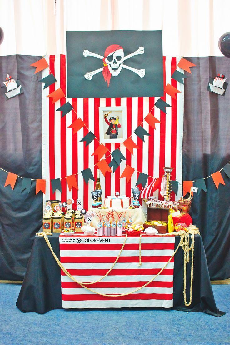 Сладкий стол на пиратскую вечеринку