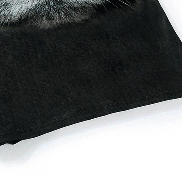 Fashion Creative Printing 3D Animal T-shirt Men's Leisure Short Sleeve T-shirt at Banggood