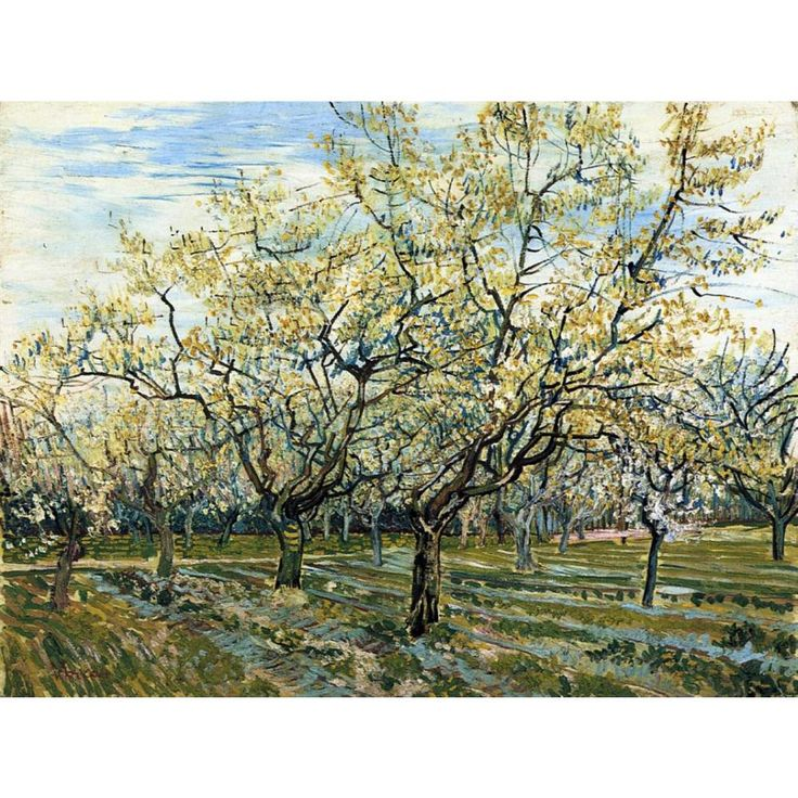 High quality Vincent Van Gogh paintings for sale Orchard with Blossoming Plum Trees Canvas art hand-painted