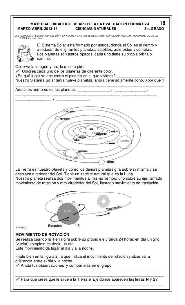 Resultado De Imagen Para Actividad Movimientos De La Tierra Quinto Grado Movimientos De La Tierra Actividades Pedagogicas Astronomia Para Ninos