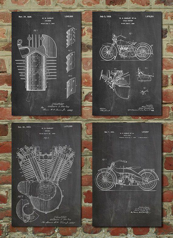 Harley Davidson Poster Harley Davidson Patent by PatentPrints