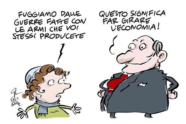 #IoSeguoItalianComics #Satira #Politica #war #arms #economia #societa
